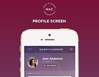 Honey & Chrome App Design
