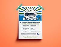 Pine Knoll Rehabilitation Center Car Show Flyer