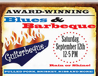 Blues & Barbeque Poster