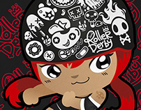Roller Derby Helmets :Stickers Project [Red Rock]