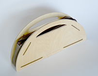 Semi-circular Wooden Purse