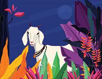 Mr. Naughty Goat - Character Illustration
