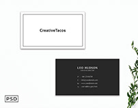 Free Simple & Clean Business Card Template