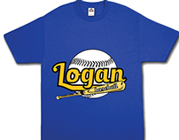 Logan Baseball Shirt Design