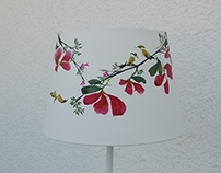 Asian painting - lamp nr. 14 - 250 Euro