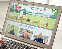 Milk Helps Fuel Team USA Website Design