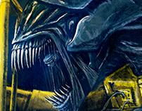 Ripley and Alien Queen