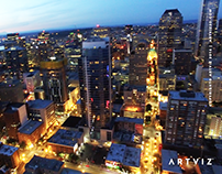 Artviz ™ Art Of Light — Aerial 4K HD Footage Seattle