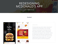 Redesigning McDonald's App - A UX Case Study