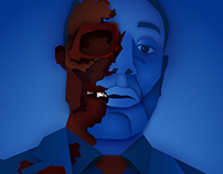 """Face Off"" Gus Fring Illustration"