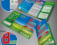 8th Annual Charity Golf Tournament Brochure & Poster