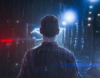 How To Turn Boring Images Into Dramatic Rainy Scene | P