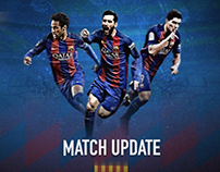 Barcelona Match Update Sample Test