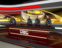 Set Design of DBC NEWS by SADEK AHMED