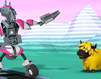 Yakcow! - Animated test pilot