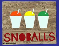Snoballs Stencil t-shirt design