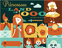 FakeAnything.com - Adventure Time Princess Poster