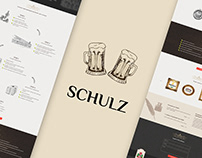 Landing page design for brewing company SHULZ