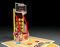 Basketball inspired Floor Display Design