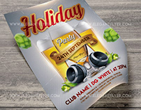 Holiday party – Free Flyer PSD Template