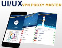 Free VPN Server Mobile App UI/UX Mockup Designing