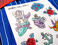 AHOY! Sailor Stickers