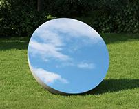 Ball mirror art - CGI