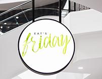 Projeto de identidade visual Eat's Friday
