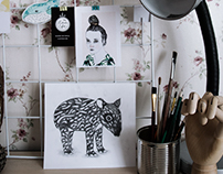 My workspace //drawings and cute stuff I like to do...