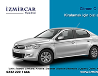İzmir Citroen C-Elysee Oto Kiralama