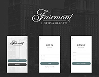 Fairmont hotel - Food ordering app
