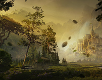 Pine castle - matte painting