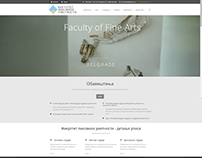 Website for Faculty of Fine Arts
