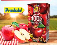 Nuevo Hit 100% Jugo de Manzana