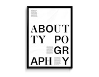 About typography –poster