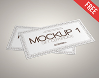 Gift Certificate – 3 Free PSD Mockups