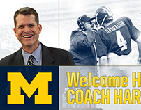 """Welcome Home Coach Harbaugh"" Graphics"