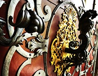 Close Up Door Basilica San Nicolas
