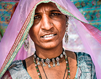 Native people of Ajmer, Rajasthan, India