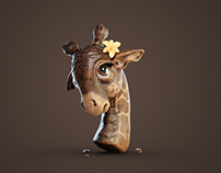 Cute Giraffe Sculpt