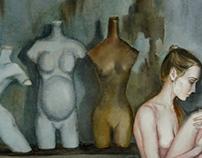 """""""Je suis la femme""""/ Watercolor"""