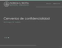 Sitio web Patricia S. Trotta Estudio Jurídico.