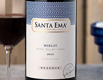 Viña Santa Ema Wine Packaging Design