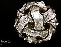 Papercut Puzzle Lamp