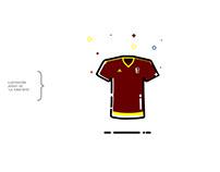 """Ilustración jersey de """"La Vinotinto"""""""