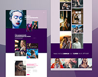 Fashion Photography Web Design