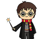 Character Illustration: Harry Potter
