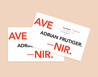 Adrian Frutiger Commemorative Poster //Upstarts