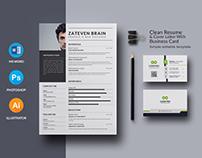 Resume Template & CV Template Free