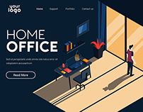 Landing page template of Home Office